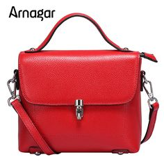 Arnagar Brand Genuine Leather women messenger bags fashion designer solid flap pocket women's handbags sac a main