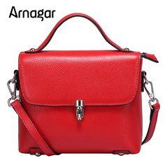 Arnagar marca donne del cuoio genuino borse a tracolla stilista solido tasca con patta donne delle borse sac à main