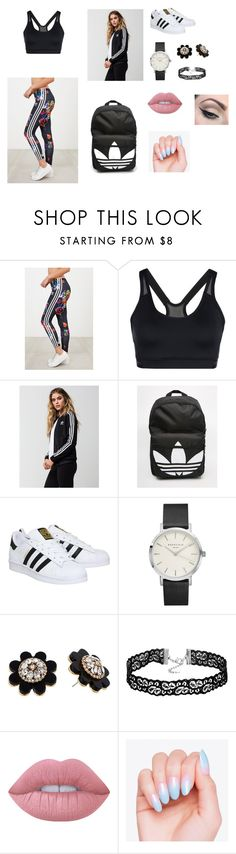 """Sem título #16"" by laurenmello-473 on Polyvore featuring moda, adidas, Kate Spade, Lime Crime e Mehron"