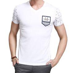 Minibee Men's Short Sleeve V Neck T-shirt(White-M) Minibee http://www.amazon.com/dp/B00WFXURVW/ref=cm_sw_r_pi_dp_12vZvb1NZNER7