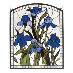 Meyda Tiffany 36074 Iris Domed Window Stained Glass - Decor Universe