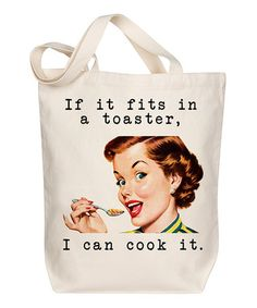 Love this 'If It Fits in a Toaster' Tote on #zulily! #zulilyfinds