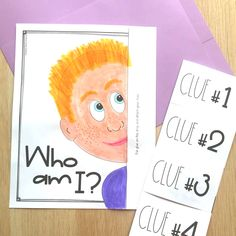 "Back to School Activities: Fun and Fresh! Fresh get-to-know-you activities for the beginning of the year! Like this ""Who Am I?"" poster with flip-open clues (great for a back to school bulletin board or parent night!), ""A Maze of New… Continue Reading → Get To Know You Activities, First Day Of School Activities, English Activities For Kids, First Year Teaching, Beginning Of The School Year, New School Year, Back To School Ideas For Teachers, Back To School Videos, School Pens"