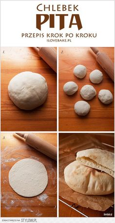 Pita bread - recipe step by step Good Food, Yummy Food, Salty Foods, Pita Bread, Polish Recipes, Arabic Food, Food Hacks, Food Inspiration, Food Porn