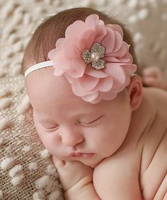 Loving this Dusty Rose Chiffon Kate Headband - Toddler on #zulily! #zulilyfinds