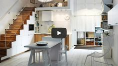 Objects of Design: New Kitchen from Ikea - Mad About The House Space Saving Kitchen, Small Space Kitchen, Ikea Kitchen, Stairs Kitchen, Kitchen Decor, Kitchen Island, Micro Kitchen, Island Table, Kitchen Oven