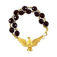 Red Statement Bracelet, Red Bracelet, Eagle Jewelry, Statement Jewelry, Eagle Bracelet, Multi Strand Jewelry, Bird Jewelry, Jewelry Eagles by manictrout on Etsy https://www.etsy.com/listing/506521623/red-statement-bracelet-red-bracelet