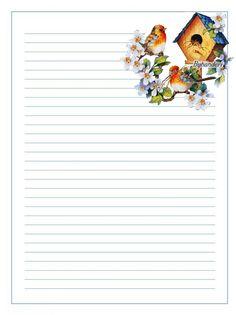 Printable decorative writing paper