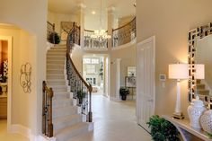 Westin Homes - Harmony - The Castlebrook - New Homes Houston - Entry - Wrought Iron Staircase