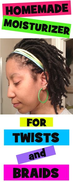 Homemade moisturizer for twists/braids (extensions and all natural hair) http://napturallycurly.com/2014/03/moisturizing-hair-while-in-twists-and-extensions/