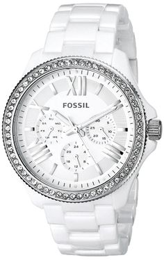women watches    Review for Fossil Women's CE1081 Analog Display Analog Quartz White Watch