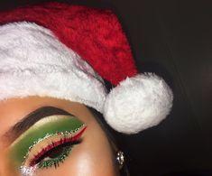 Christmas festive makeup look festival eye makeup, pretty makeup, love make Makeup Goals, Makeup Inspo, Makeup Tips, Beauty Makeup, Hair Makeup, Makeup Ideas, Teen Makeup, Christmas Makeup Look, Holiday Makeup Looks