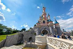 The famous Sleeping Beauty Castle in Disneyland Paris.