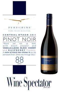 Peregrine Pinot Noir 2011 - 88 points - Wine Spectator