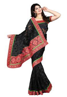 Black Color Banarasi Designer Saree