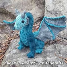Crochet Dragon Plush / Amigurumi/ Fantasy / Game of Thrones /