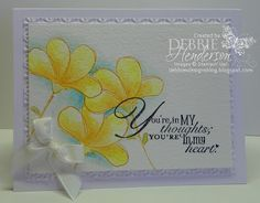 Stampin' Up! Awash with Flowers, watercoloring by Debbie Henderson, Debbie's Designs