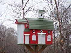 Barn birdhouse - Frains Lake, Michigan - Unique Bird Houses on Waymarking.com