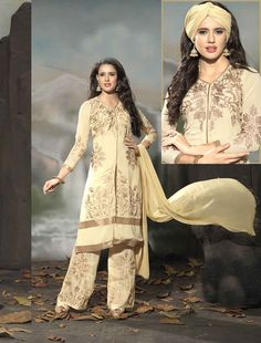 http://www.istyle99.com/Semi-Stitched-Anarkali-Style-Suits/THANKAR-LATEST-EMBROIDERED-DESIGNER-CREAM-STRAIGHT-SUIT-3353.html LATEST EMBROIDERED DESIGNER CREAM STRAIGHT SUIT - Rs 1708 BASE COLOUR : CREAM TOP FABRIC : GEORGETTE TOP COLOUR : CREAM BOTTOM FABRIC : SANTOON BOTTOM COLOUR : CREAM DUPATTA FABRIC : NAZNEEN DUPATTA COLOUR : CREAM INNER FABRIC : SANTOON INNER COLOUR : CREAM WORK : EMBROIDERY