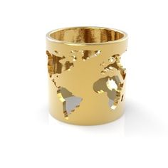 World Map Ring // by Artelier