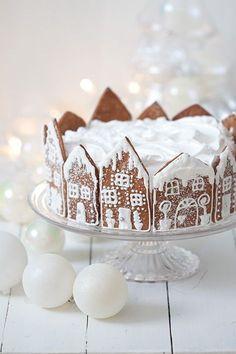 hyydytettysuklaakakku2 Christmas Cake Decorations, Christmas Desserts, Christmas Treats, Christmas Baking, Holiday Treats, Christmas Cookies, Christmas Gingerbread House, Noel Christmas, Christmas Birthday