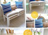 Cheap'n'Chic Pallet Sofa. See full tutorial