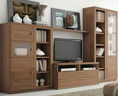 Tv Cabinet Wall Design, Tv Wall Cabinets, Tv Wall Design, House Design, Dining Room Shelves, Living Room Wall Units, Living Room Cabinets, Living Room Designs, Tv Stand Furniture