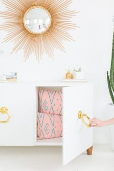 Amp up your IKEA furniture by adding a pair of chic oversized knobs.