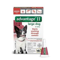 Advantage II Flea Treatment for Large Dogs 21-55 lbs - 6 Month Supply