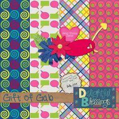 Delightful Blessings Design: July Blog Train ~ Gift of Gab. Speech bubble paper*