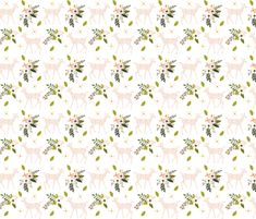 blush sprigs and blooms fawn // small by ivieclothco