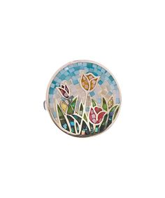 Take a look at this Mother-Of-Pearl & Sterling Silver Mosaic Blossom Garden Round Ring today!