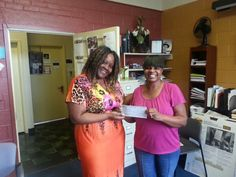 One of our loving committed staff member hosted a beautiful Dance Fundraiser to begin a fund for Senior and Youth Transportation and she raised 2,400 she hands over to our Early Childhood Director Ms. Tamika. Thank you Ms Rachell-Manager of our Neighborhood Foster Care Program.
