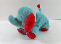Fisher Price Blue Elephant Little Nuzzler Rattle Plush 5853 Plush Baby Toy B243