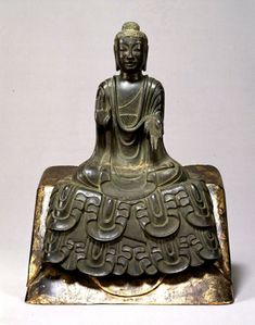 Seated Buddha statue, Asuka period century), Important Cultural Property of Japan 如来坐像 重要文化財 Buddhist Meditation, Buddha Buddhism, Buddha Art, Religion, Temples, Art Premier, Art Sculpture, Japanese Art, Asian Art