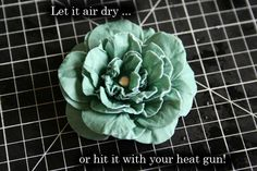 """""""Paper Flower Pieces"""". Cardstock paper flower tutuorial.  This method is so creative- who would have thought water could do this?!"""