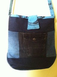 Tulip bag tutorial using recycled jeans