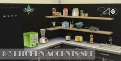 Lana CC Finds - Ts2 to Ts4 Conversion of 8-3 Kitchen Accents set by daer0n