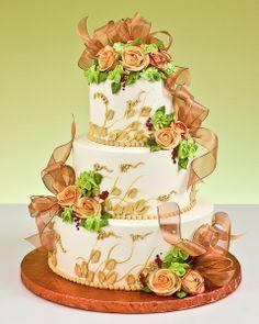 pretty fall wedding cake Fall Wedding Cakes, Elegant Wedding Cakes, Wedding Cake Designs, Wedding Ideas, Elegant Cakes, Autumn Wedding, Beautiful Cakes, Amazing Cakes, Pastel Cakes