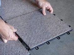 Basement Carpeting - TBF Carpeted Basement Floor Tiles...going in the bedroom~Evy