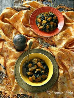 Sweet Potato Saag Aloo - Curry Indiano di Patate Dolci e Spinaci