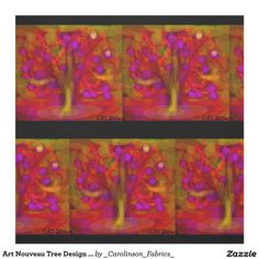 Art Nouveau Tree Design Fabric