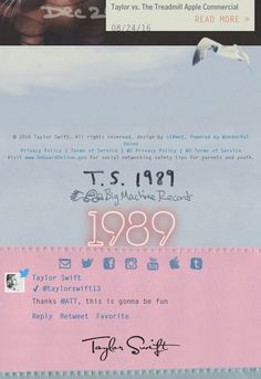So, on Taylor's website right now, I noticed for the first time that if you scroll all the way down, her name is randomly placed at the bottom...written in the original font. :') It honestly made me so emotional, this simple little fact. No matter how much she grows and changes, that pretty little country girl we met so long ago is still there. <3
