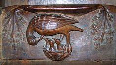 Pelican misericord, Lavenham Parish Church