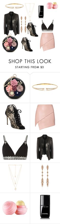 """""""Bad ass getaway"""" by phybear ❤ liked on Polyvore featuring WithChic, Nadri, Jimmy Choo, Michelle Mason, Givenchy, Alexander McQueen, Natalie B, Fernando Jorge, Eos and Chanel"""