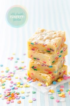 White Chocolate Funfetti Blondies from @Lindsay Landis | Love and Olive Oil