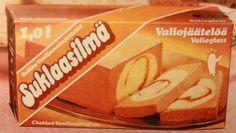 Valio Suklaasilmä -jäätelö vm. 1983.