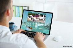 Man using laptop to book hotel online - Buy this stock photo and explore similar images at Adobe Stock Book Hotel Online, Hotel Sites, How To Read A Recipe, Check Email, Be Gentle With Yourself, Tourism Industry, Hotel Website, Historical Monuments, Beautiful Places To Travel