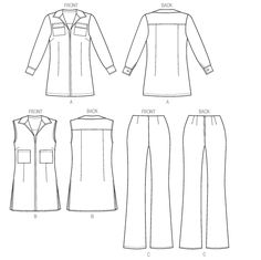 V9010 | Misses' Tunic and Pants | New Sewing Patterns | Vogue Patterns
