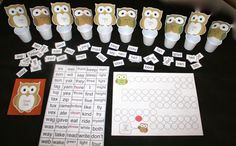 Classroom Freebies: Howl With The Vowel Owls CVC Word Games